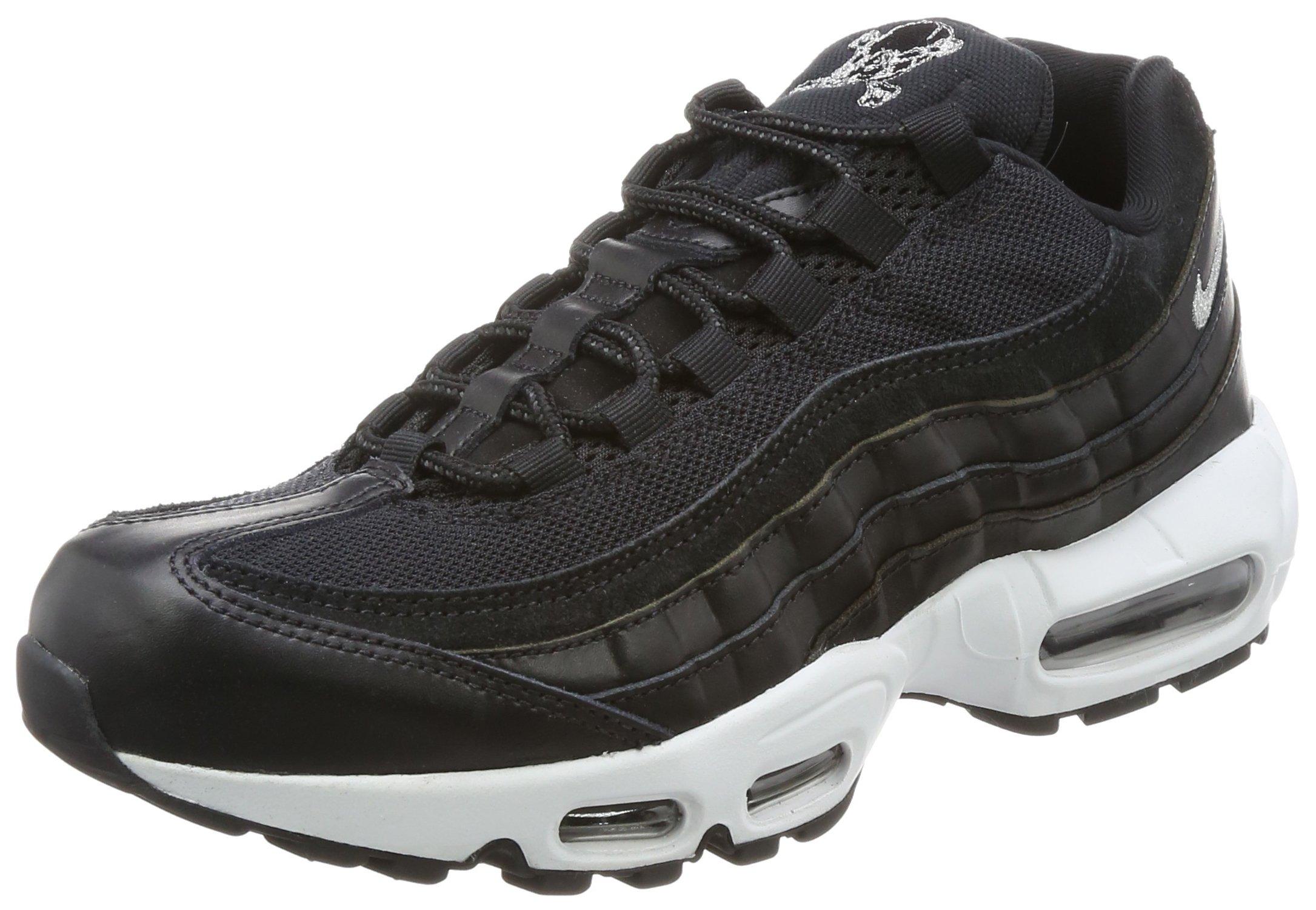 buy popular 86fc1 c48ed Galleon - NIKE AIR MAX 95 PRM Mens Fashion-Sneakers Bstn 538416-008 8.5 -  Black Chrome-Black-Off White