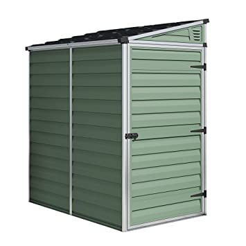 4ft x 6ft Waltons Pent Roof Skylight Plastic Shed In Green - Single Door - Ideal  sc 1 st  Amazon UK & 4ft x 6ft Waltons Pent Roof Skylight Plastic Shed In Green - Single ...