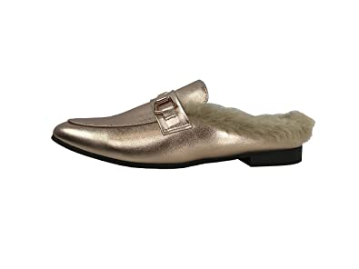 3970258d412 Paprika Women s Slip On Loafers Open Backless Closed Toe Low Heel