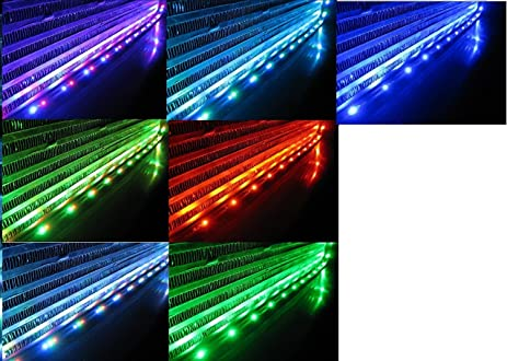 ZHOL Sound Activated 7 Color LED Under Car Glow Underbody System Neon Lights Kit 36u0026quot;  sc 1 st  Amazon.com & Amazon.com: ZHOL Sound Activated 7 Color LED Under Car Glow ... azcodes.com