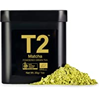T2 Tea Organic Green Tea Matcha Powder in a Black Tin, 30 g