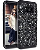 Casetego Compatible with Galaxy S8 Case,Glitter Sparkle Bling Three Layer Heavy Duty Hybrid Sturdy Shockproof Protective…