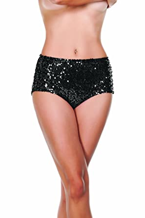 Amazon.com: Starline Women's Sequin High Waist Shorts: Clothing