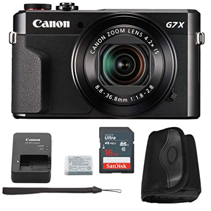 56b1bb32c2a5 Amazon.com : Canon G7x Mark II Digital Camera Bundle + Canon PowerShot g7 x  Mark II Advanced Accessory Kit - Including EVERYTHING You Need To Get  Started ...