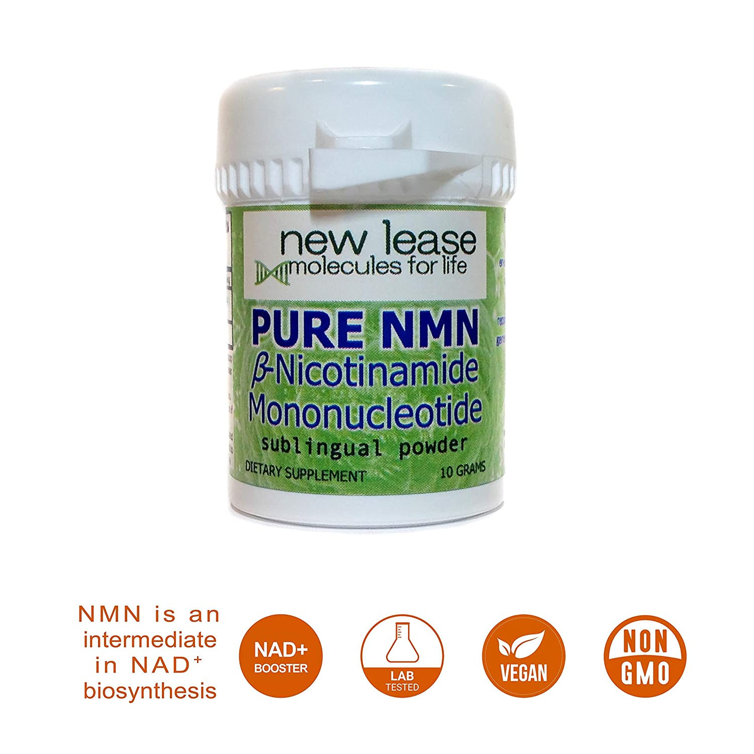 Pure NMN - Nicotinamide Mononucleotide - Sublingual Powder - Purity Above  99% - 10 Grams