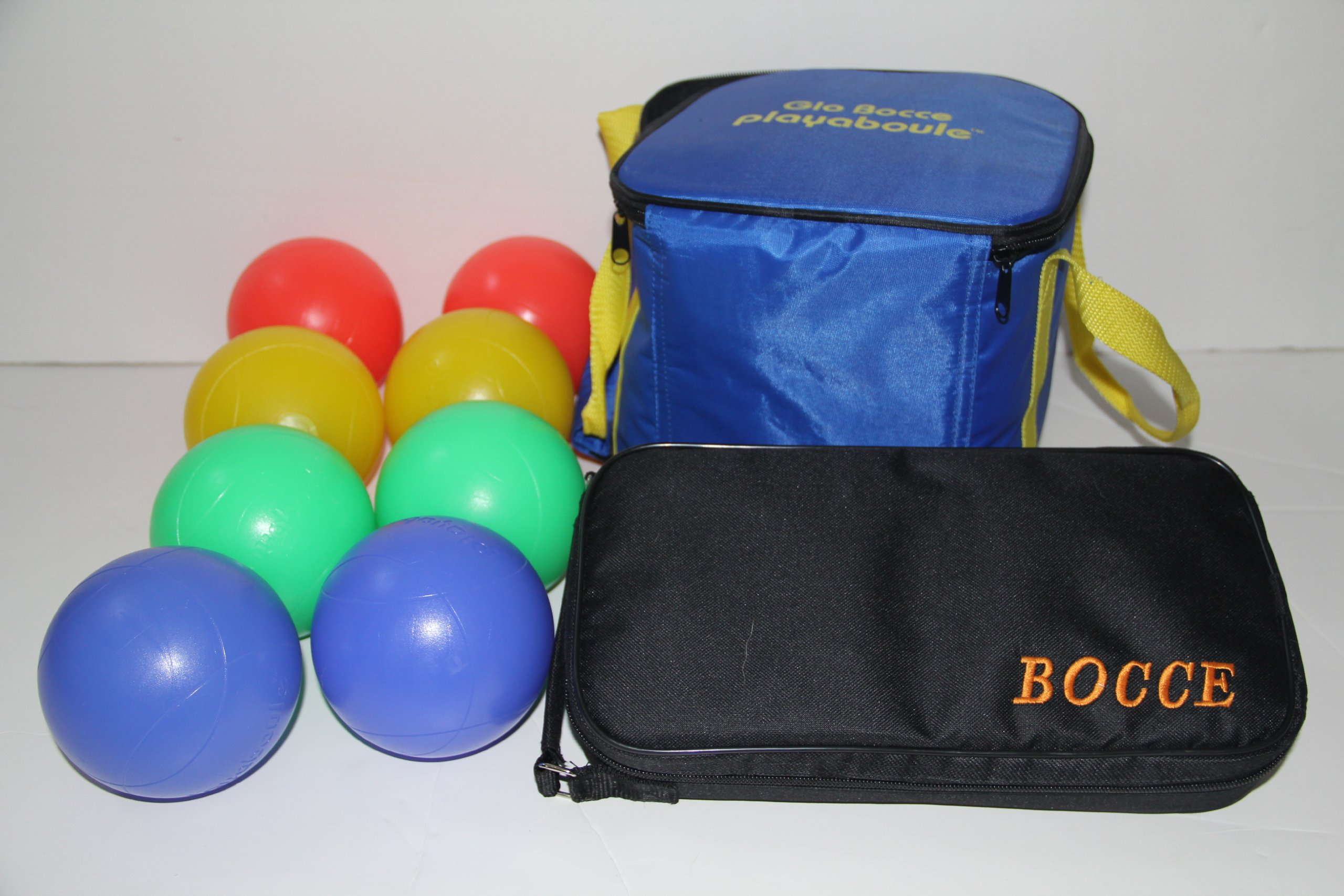Bocce Package - Glow in Dark Light up Set and 73mm Metal Petanque Set [Misc.] by BuyBocceBalls