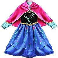 NNDOLL Carnevale Costume principessa Regina Delle Nevi Anna Vestito Bimba Travestimento