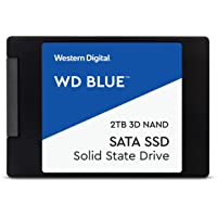 "Western Digital WDS500G2B0A WD Blue 500GB  3D NAND Internal SSD 2.5"" SATA"