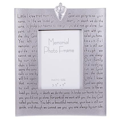 Amazon.com - Religious Memorial Bereavement Picture Photo Frame with ...