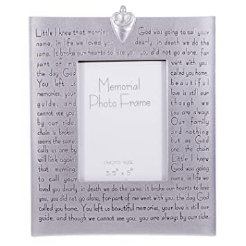 religious memorial bereavement picture photo frame with verse 40482