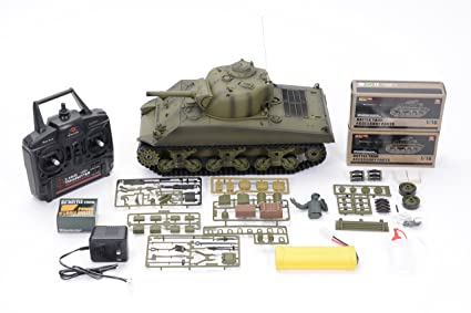 bd5cf07c85b9 Image Unavailable. Image not available for. Colour  HengLong 2.4GHz  American M4A3 Sherman ...