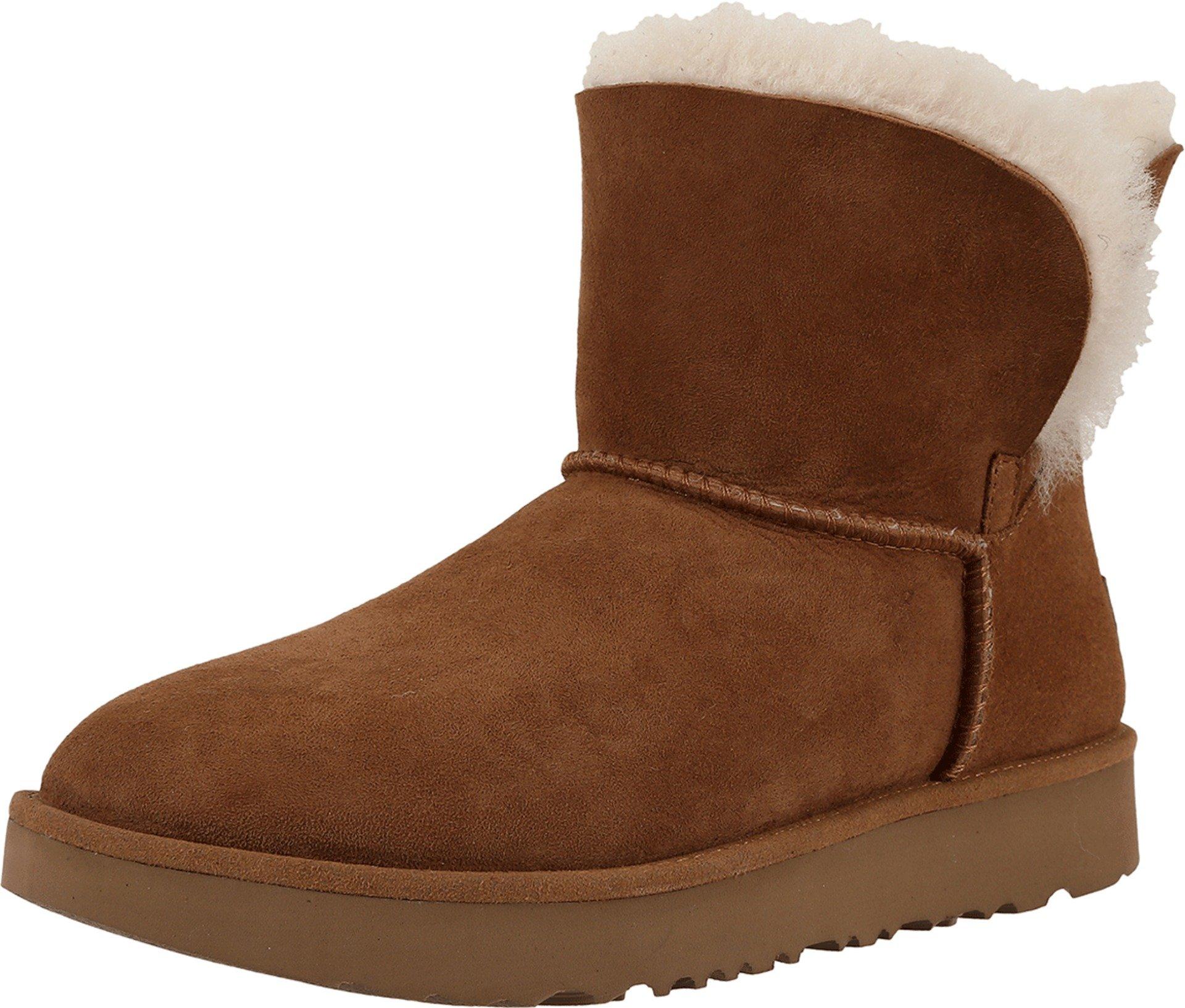 UGG Women's Classic Cuff Mini Winter Boot, Chestnut, 7.5 M US