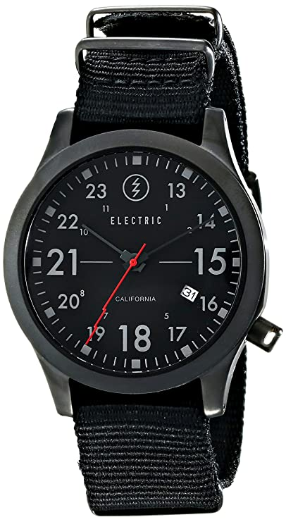 Amazon.com: Electric Mens EW0010020038 FW01 Nato Stainless Steel Watch with Camo Band: Watches