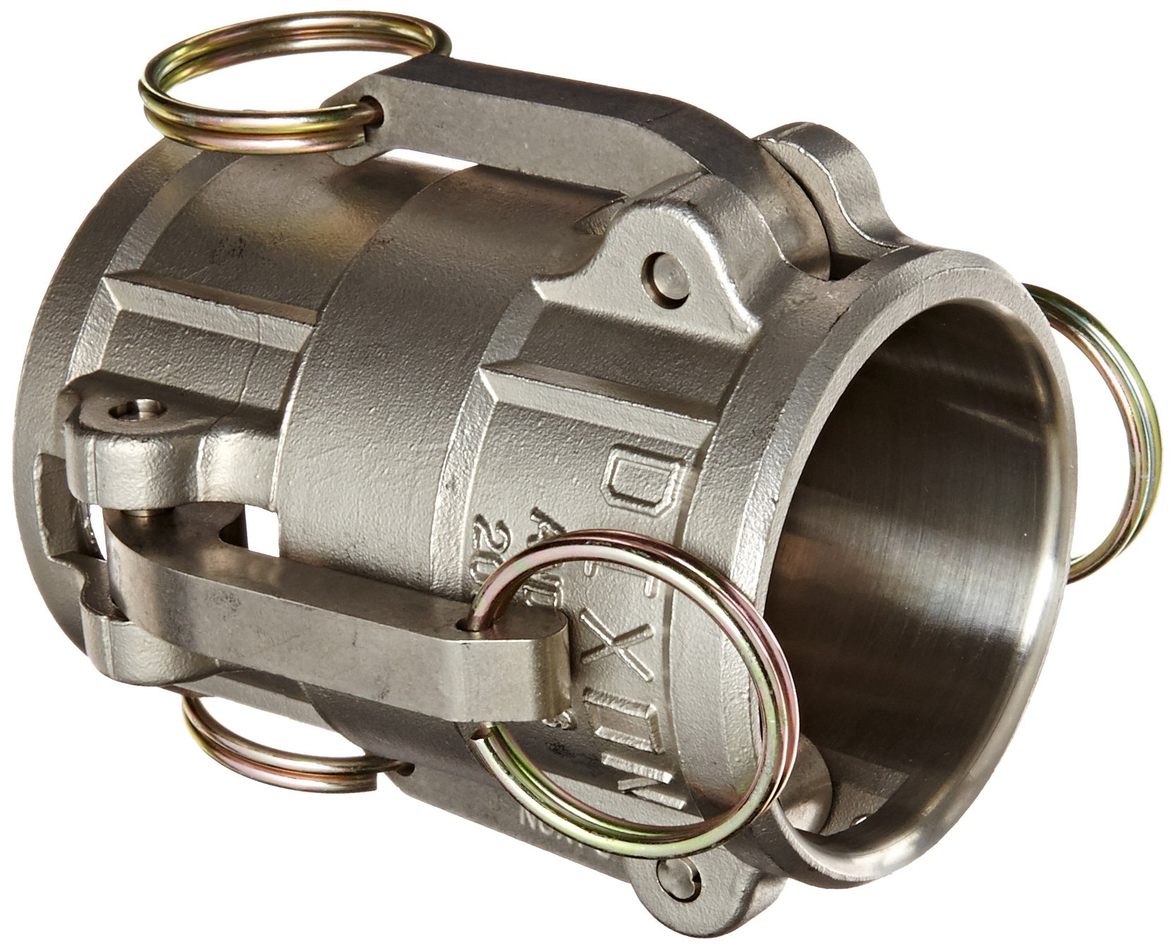 Dixon 200C-90SS Stainless Steel 316 Type C Cam and Groove Hose Fitting, 90 Degree Elbow, 2'' Socket x 2'' Hose ID Barbed