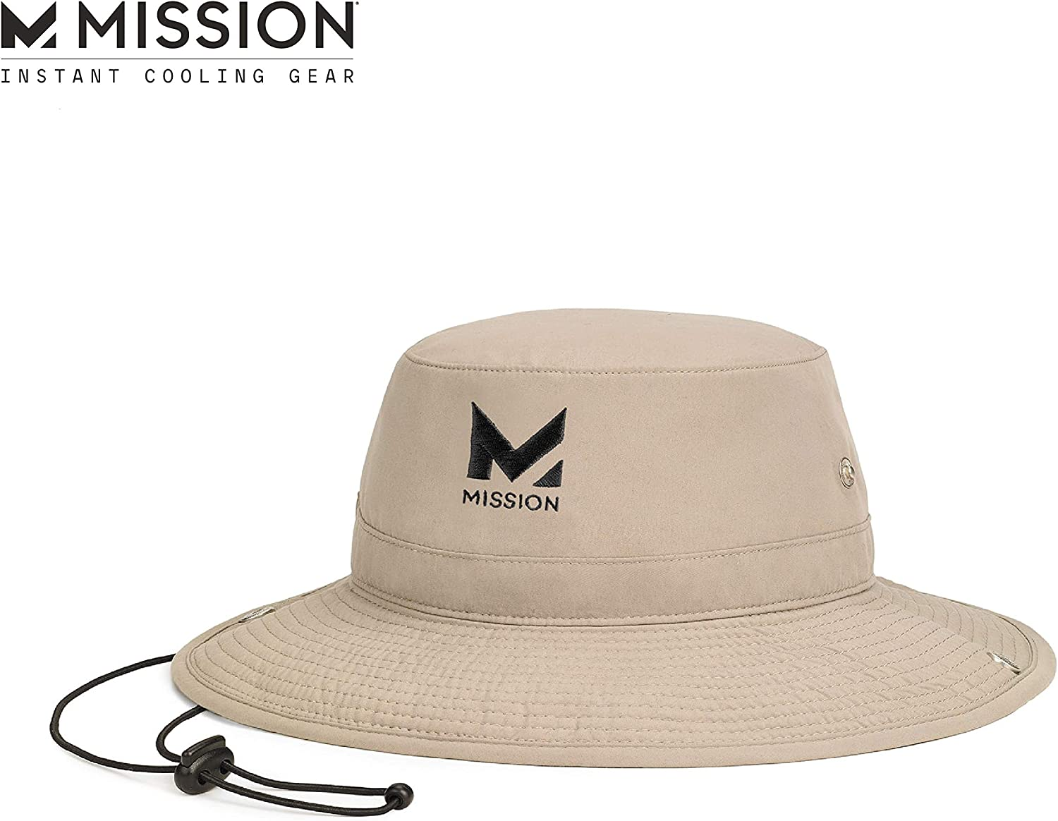 MISSION Cooling Bucket Hat- UPF 50, 3 Wide Brim, Cools When Wet