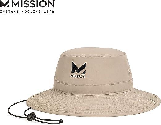 "MISSION Cooling Bucket Hat- UPF 50, 3"" Wide Brim"