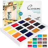 Aquarellfarbe set Hochwertig- Zur Auswahl: 16 oder 24 Farben - Qualität von Sonnet (16er Set) (16 Farben)