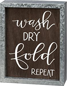 Primitives by Kathy Inset Box Sign Wash Dry Fold Repeat