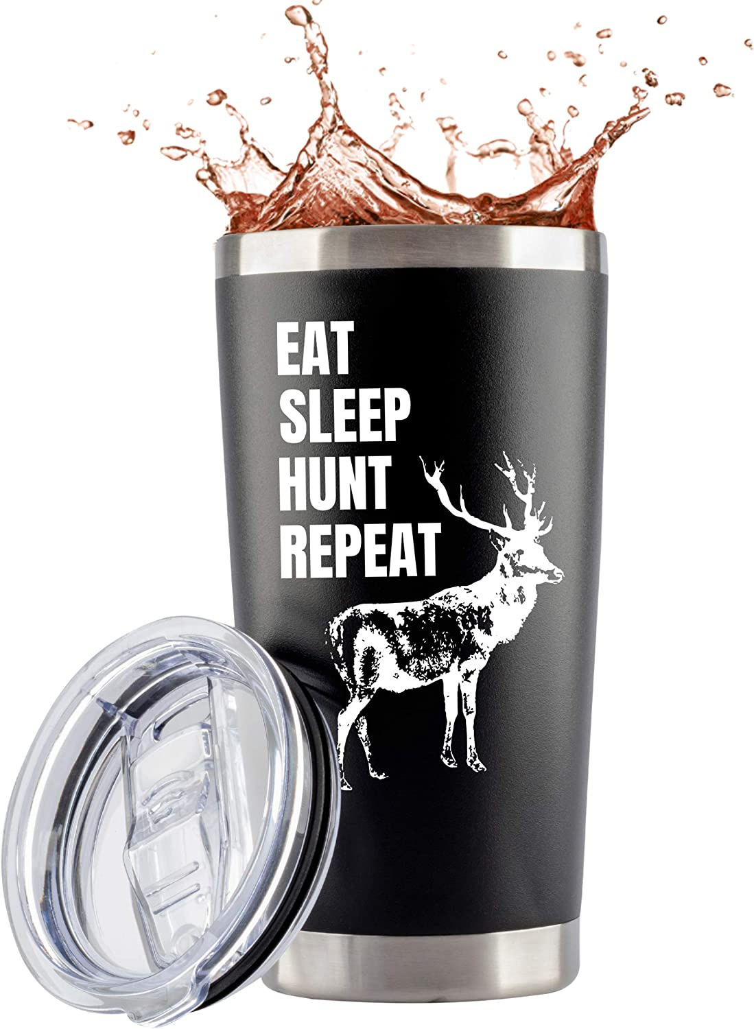 Amazon Com Hunting Gifts For Men Hunting Stuff Large 20 Ounce Steel Hot Cold Travel Hunting Tumbler Mug W Lid Coffee Cup Hunting Decor Dad Deer Hunting Hunters Gifts For Men
