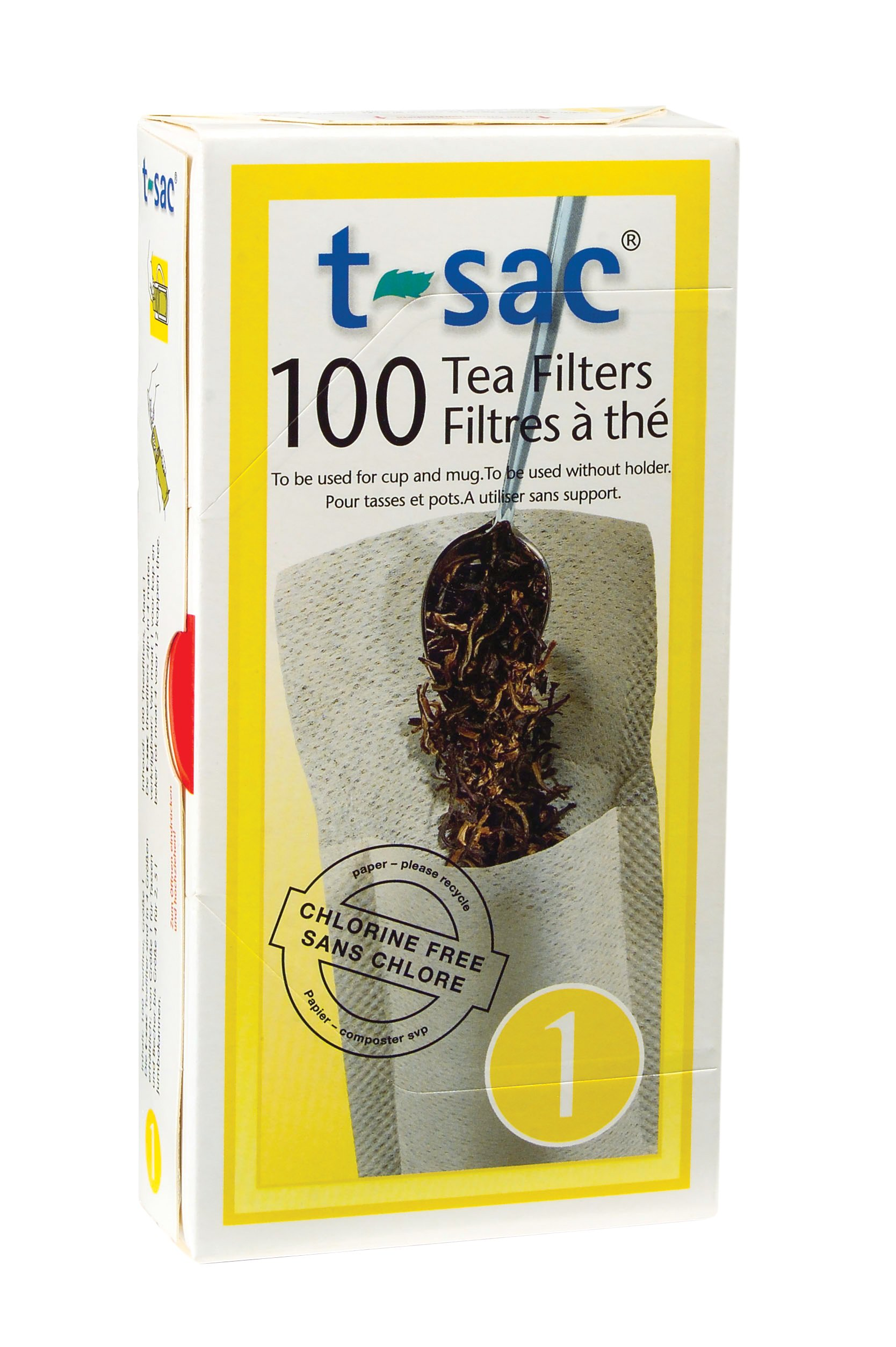 T-Sac Tea Filter Bags, Disposable Tea Infuser, Number 1-Size, 1-Cup Capacity, Set of 400