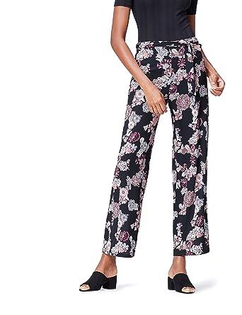 e63604242f2 FIND Pantalon Large à Imprimé Fleuri Femme  Amazon.fr  Vêtements et ...