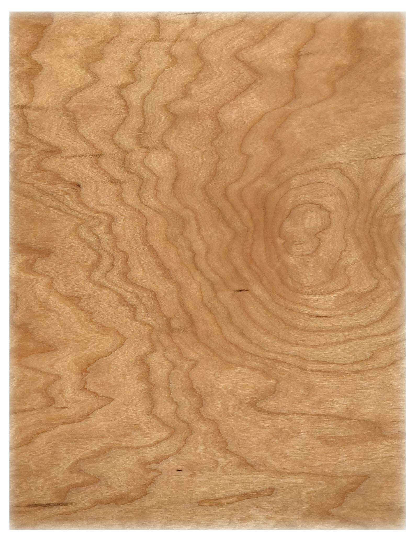Cherry Wood Veneer Paper from Cardstock Warehouse 8.5'' x 11'' - 12 Pt Text- 10 Sheets