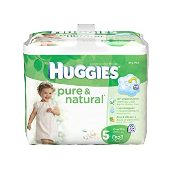 Huggies Pure & Natural Diapers - Size 5 - 52 ct