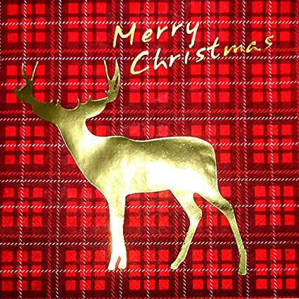 16 count Christmas Plaid Paper Guest Towels -3ply-NEW