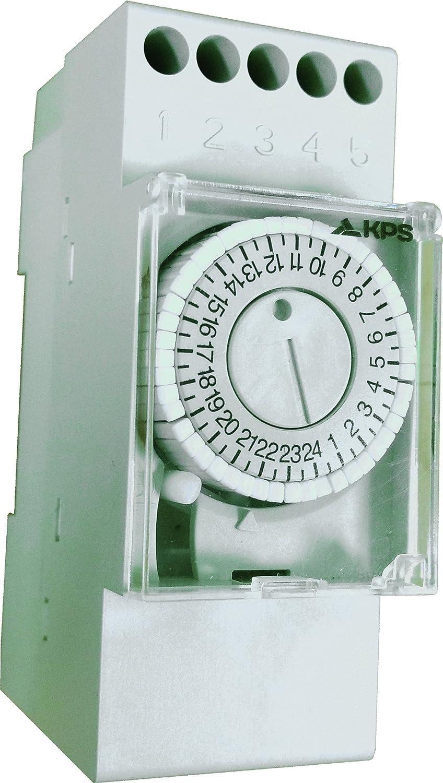 KPS-IH-DIN2SR30 Interruptor horario anal/ógico 2 modulos DIN Programacion diaria maniobra 30 min