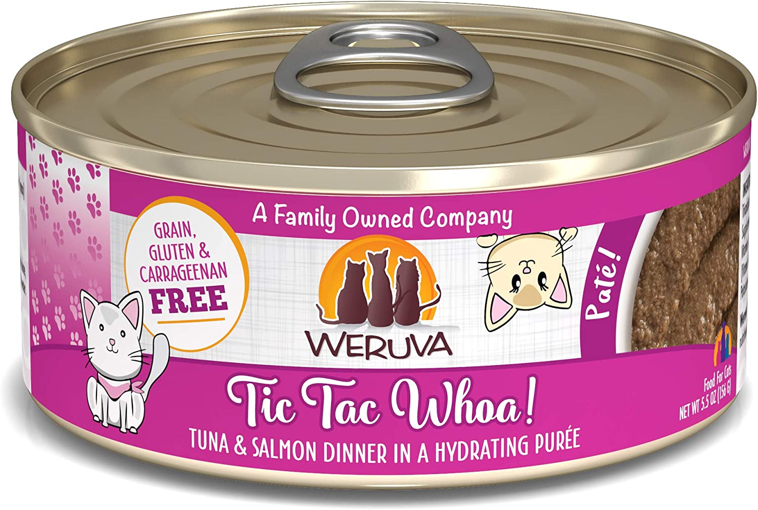 Weruva Classic Cat Patés! Grain-Free Natural Wet Pate Cat Food Cans