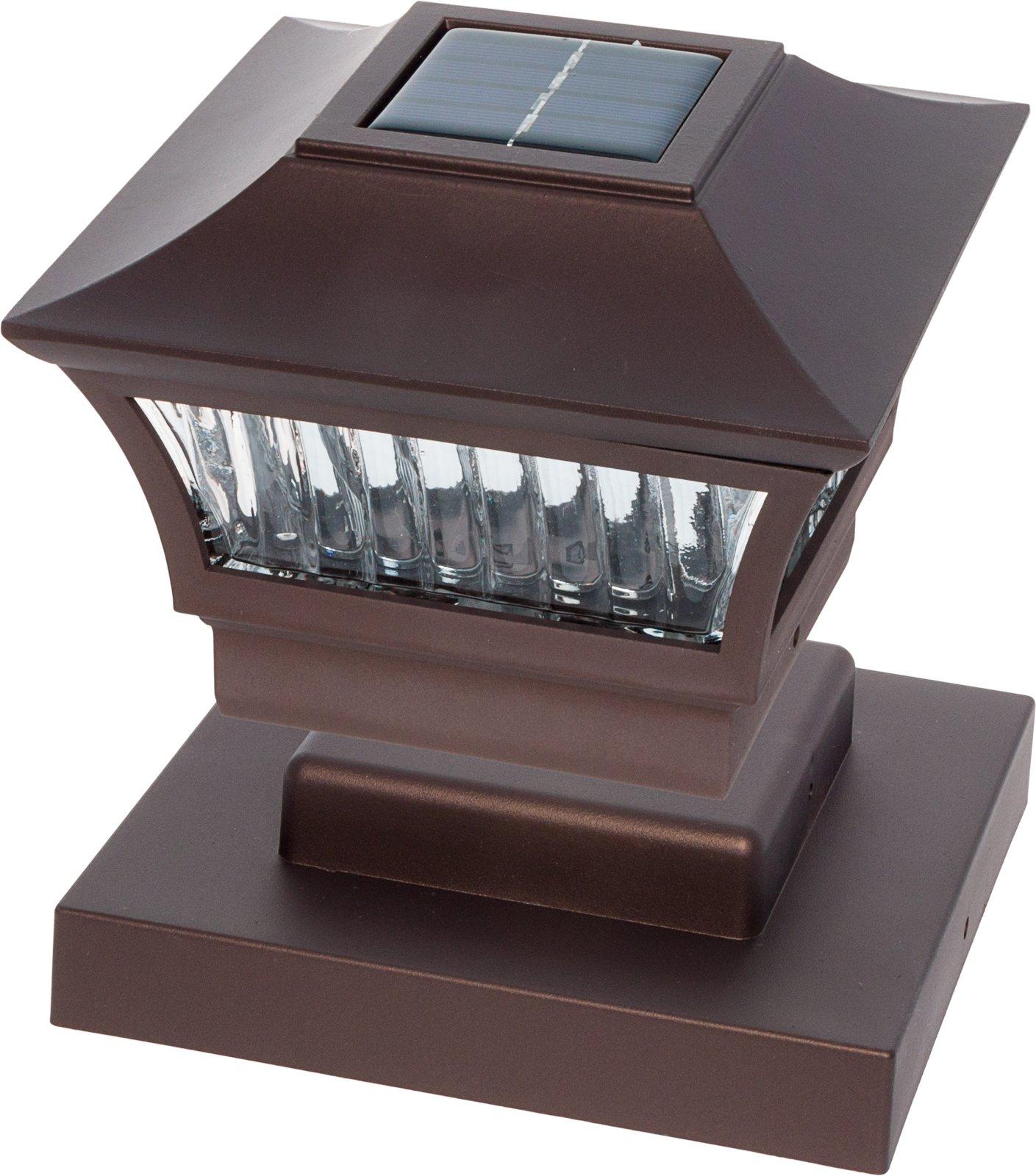 GreenLighting Bronze Aluminum Solar Post Cap Light 4x4 Wood & 6x6 PVC (2 Pack) by GreenLighting (Image #7)