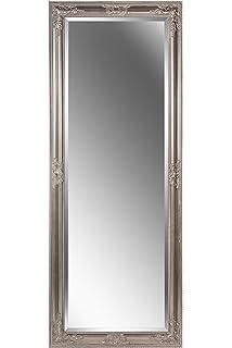Spiegel Wandspiegel Antik Silber Barock Deva 160 X 40 Cm Amazon De