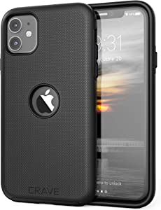 Crave iPhone 11 Case, Dual Guard Protection Series Case for iPhone 11 - Black