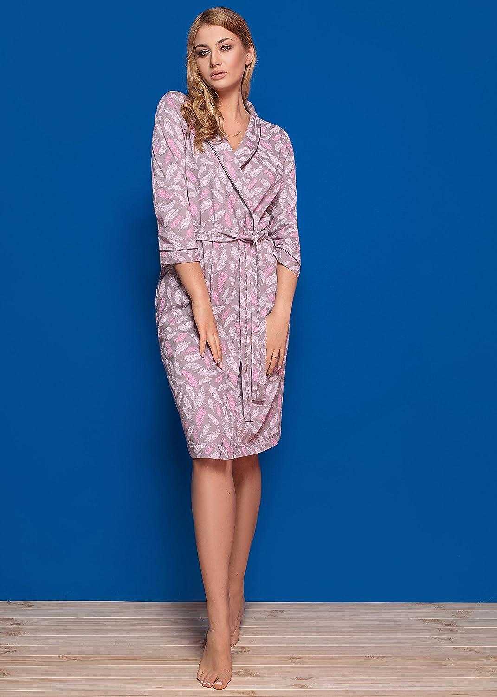 L/&L Accappatoio Vestaglia Donna con Cappuccio 8106