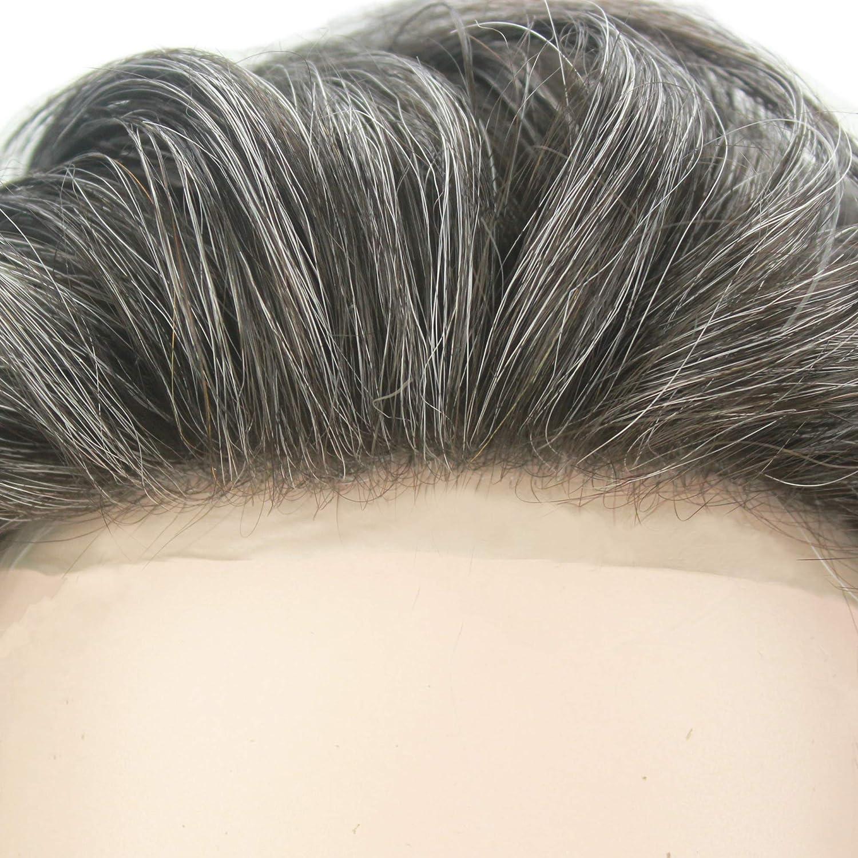 Lordhair Toupee para el reemplazo de los hombres del pelo con 0,03 mm Color de la piel Cena 1B40 (26 colores disponibles) S25(0.03mm Super Skin) # ...