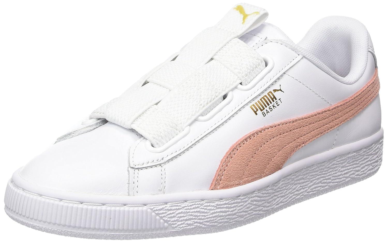Puma Damen Basket Maze Lea WNs Sneaker  40.5 EU Wei? (Puma White-peach Beige)