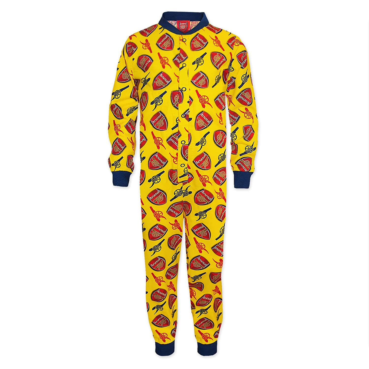 Arsenal FC Official Football Gift Boys Kids Pyjama All-in-One