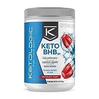 KetoLogic BHB Exogenous Ketones Powder Supplement: Patriot Pop (30 Servings) - Boosts...