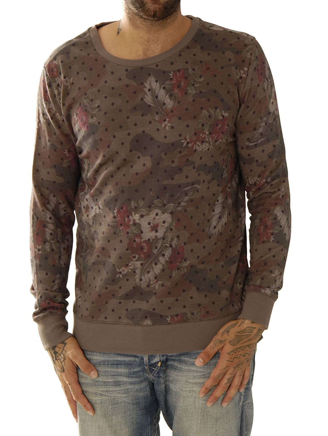 Kultivate Herren Sweat-Shirt Sw Camo Flower Usp1501041008-92