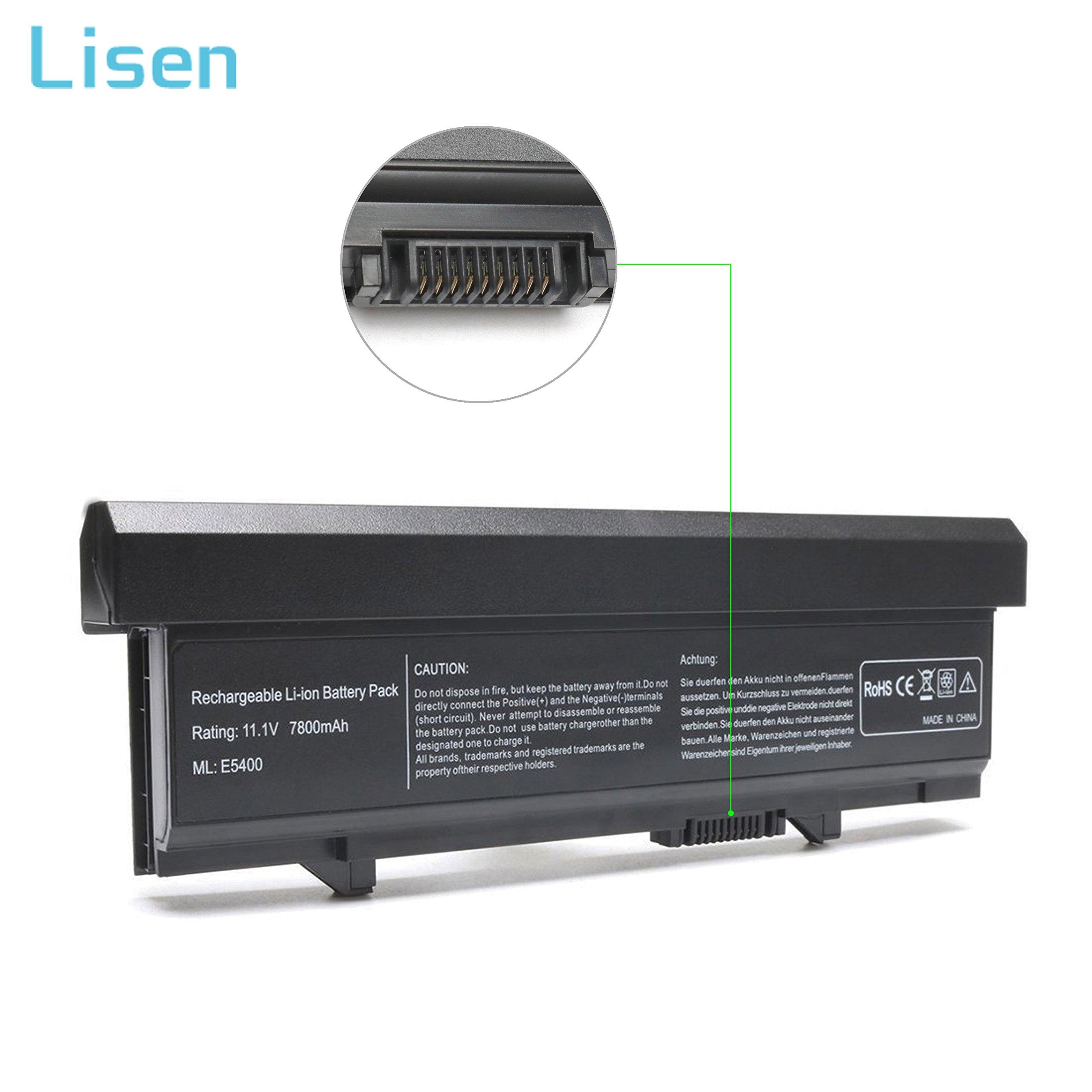 Lisen Laptop Battery for Dell Latitude E5400 E5410 E5500 E5510, P/N: KM742 WU841 KM668 KM769 KM771 PW640 U116D W071D RM649 RM656 0RM668 312-0762 312-0769 312-0902 451-10616 451-10617 [11.1V 7800mAh]