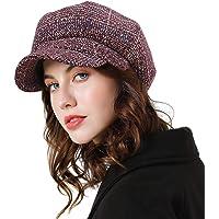 Superora Boinas Mujer Francesa Vintage Sombreros de Mujer Fiesta Invierno Clásico Gorro Caliente Beret Francés Beanie…
