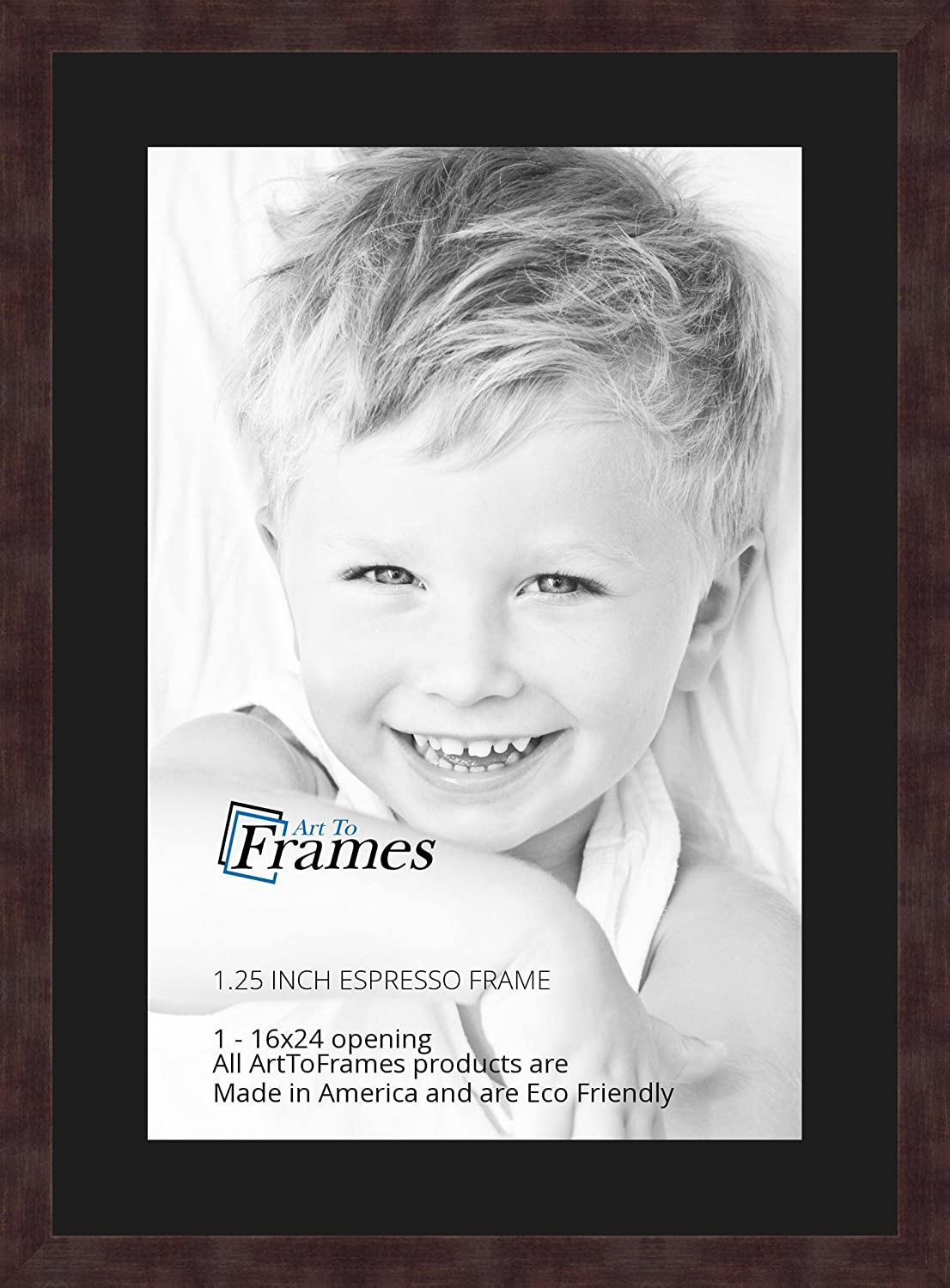 Art to Frames Double-Multimat-652-89//89-FRBW26061 Collage Frame Photo Mat Double Mat with 1-16x24 Openings and Espresso Frame