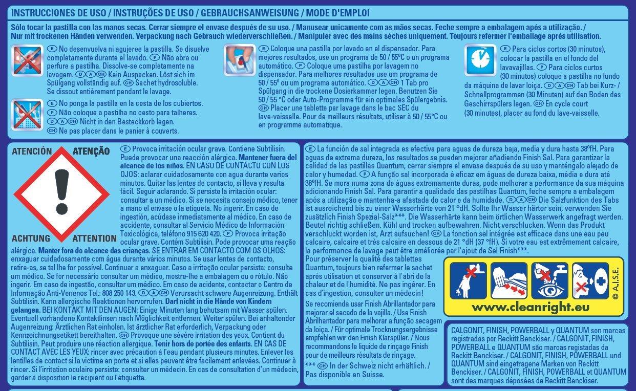 Finish Quantum Regular Pastillas para Lavavajillas - 18 + 9 pastillas