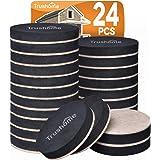 Furniture Sliders Furniture Moving Kit 24 Pack, Reusable Felt Pads Furniture Mover, 2 1/2 inch Felt Sliders for Hard…