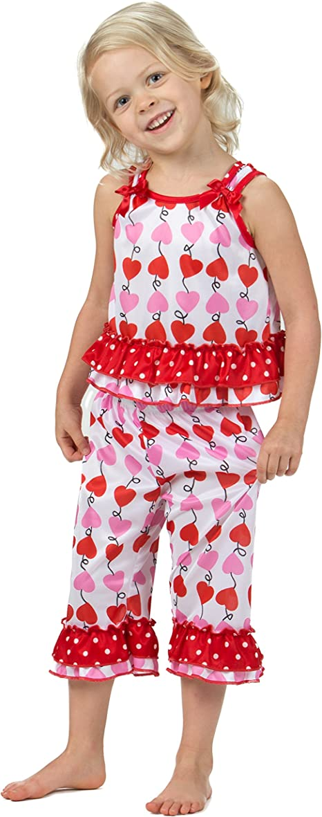 2t-6x Laura Dare Girls Dot Egg Stravaganza Capri Pajamas