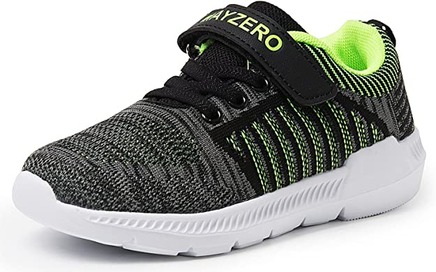 Vivay Kids Tennis Shoes Casual Walking Sneakers Lightweight Breathable Athletic Running Shoes for Boys (Grey Green,Size 1 Little Kid)