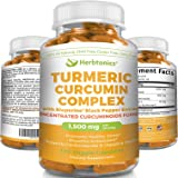 Turmeric Curcumin with BioPerine 1500mg l 95% Curcuminoids (450mg) 15X More Potent! 120 Capsules Turmeric C3 Complex l Joint Pain Anti-Inflammatory Turmeric Supplement/Tumeric Capsules Black Pepper