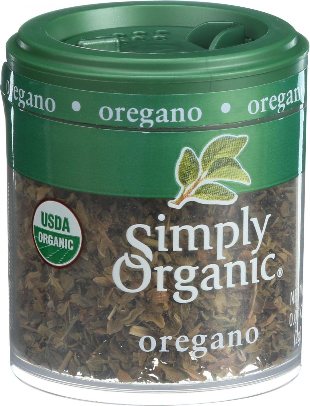 Simply Organic Oregano Leaf - Organic - Cut and Sifted - Fancy Grade - .07 oz - Case of 6