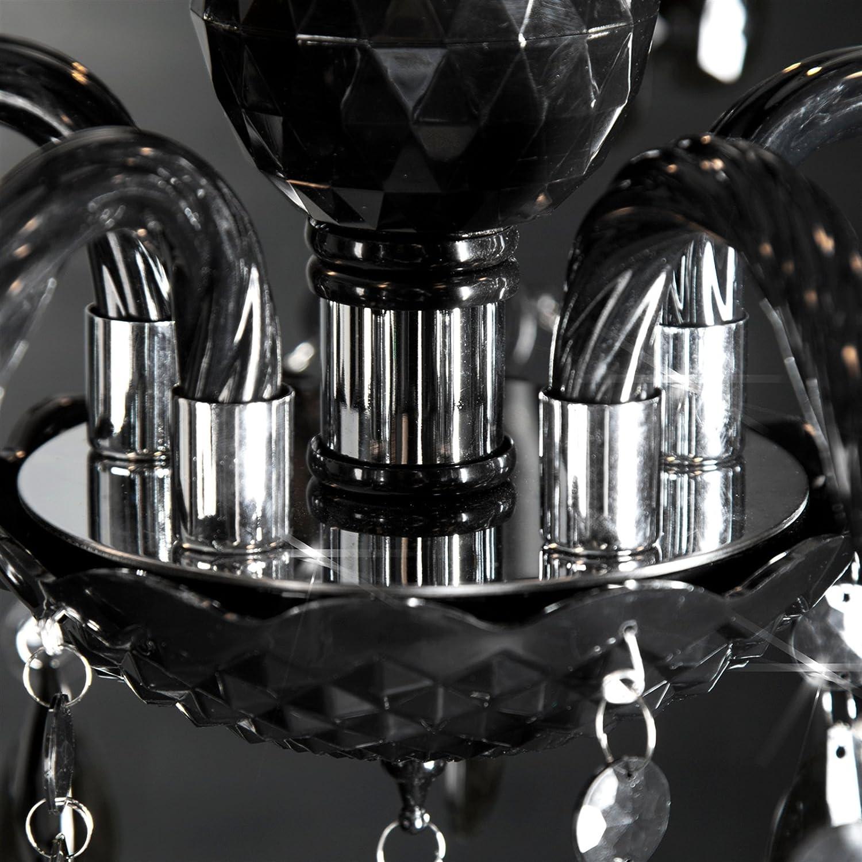 LAMPADARIO ELEGANCE 5 bracci acrilico nero /Ø 54 cm