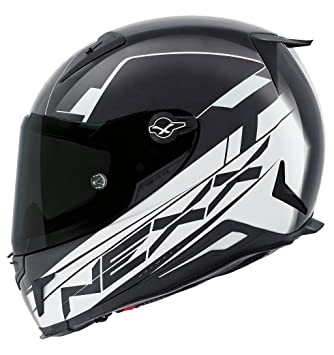 Motocicleta Nexx XR2 combustible casco – blanco y negro UK vendedor